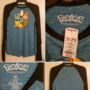Pokemon Graphic Long Sleeve T-Shirt Youth XL NWT